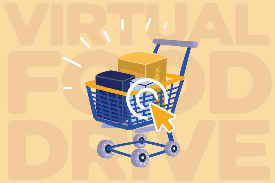 shopping cart image virtual food drive